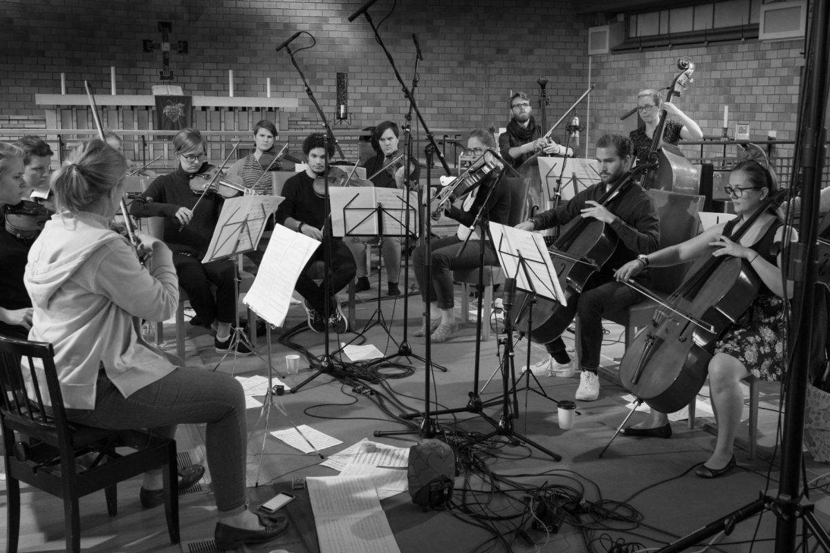 Ensemble Allegria på innspilling